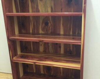 bookcase, cedar bookcase, bookshelf, cedar bookshelf, wooden bookshelf, bookshelf, display unit
