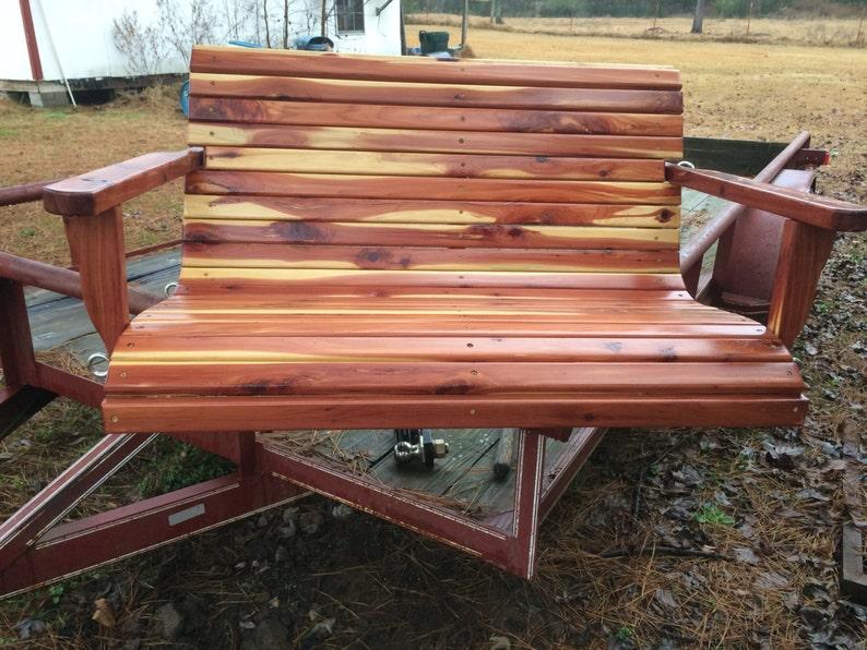 Delicieux 4 Ft Swing, Cedar Swing, Patio Swing, Outdoor Swing, Patio Furniture, Cabin  Furniture, Rustic Swing