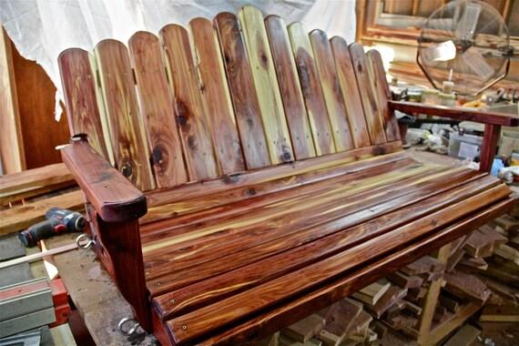 Porch Swing Wooden Porch Swing Cedar Swing Swing 5ft Etsy