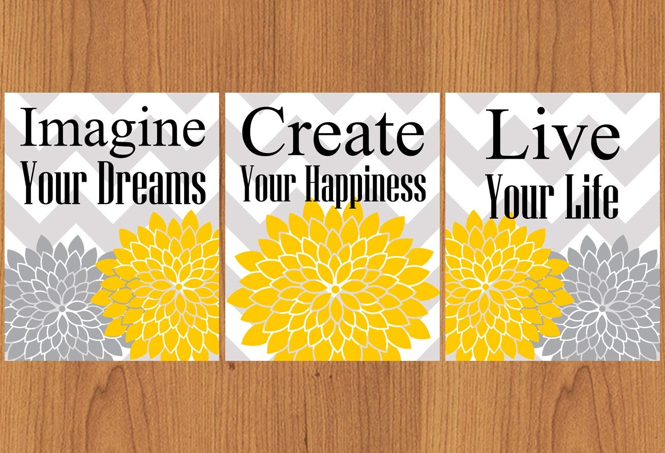 Imagine Your Dreams Create Your Happiness Live Your Life | Etsy