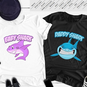 666dbcdbe Father Daughter Matching Shirts Baby Shark T Shirts Daddy Shark Baby  TShirts Dad And Girl Gifts Family Outfits Dad And Baby Girl BBY-001-004