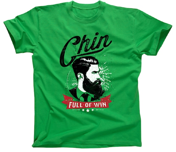 Finest Prints Chin Full Of Win Hipster With A Huge Beard Mens Tank Top Shirt