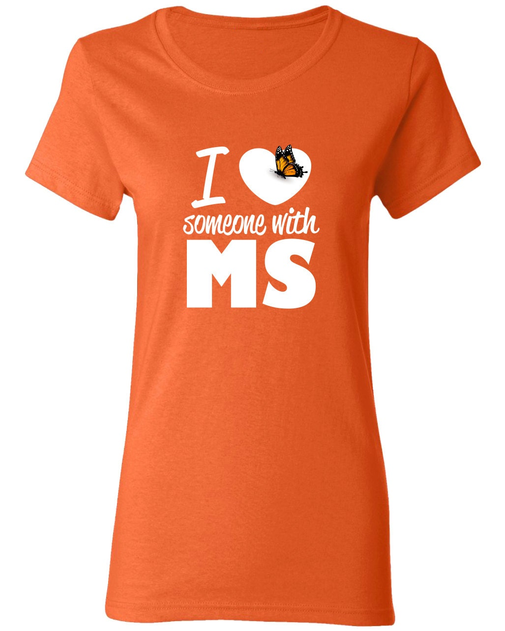 I Love Someone With Ms Awareness Shirt Funny Printed Graphic Etsy
