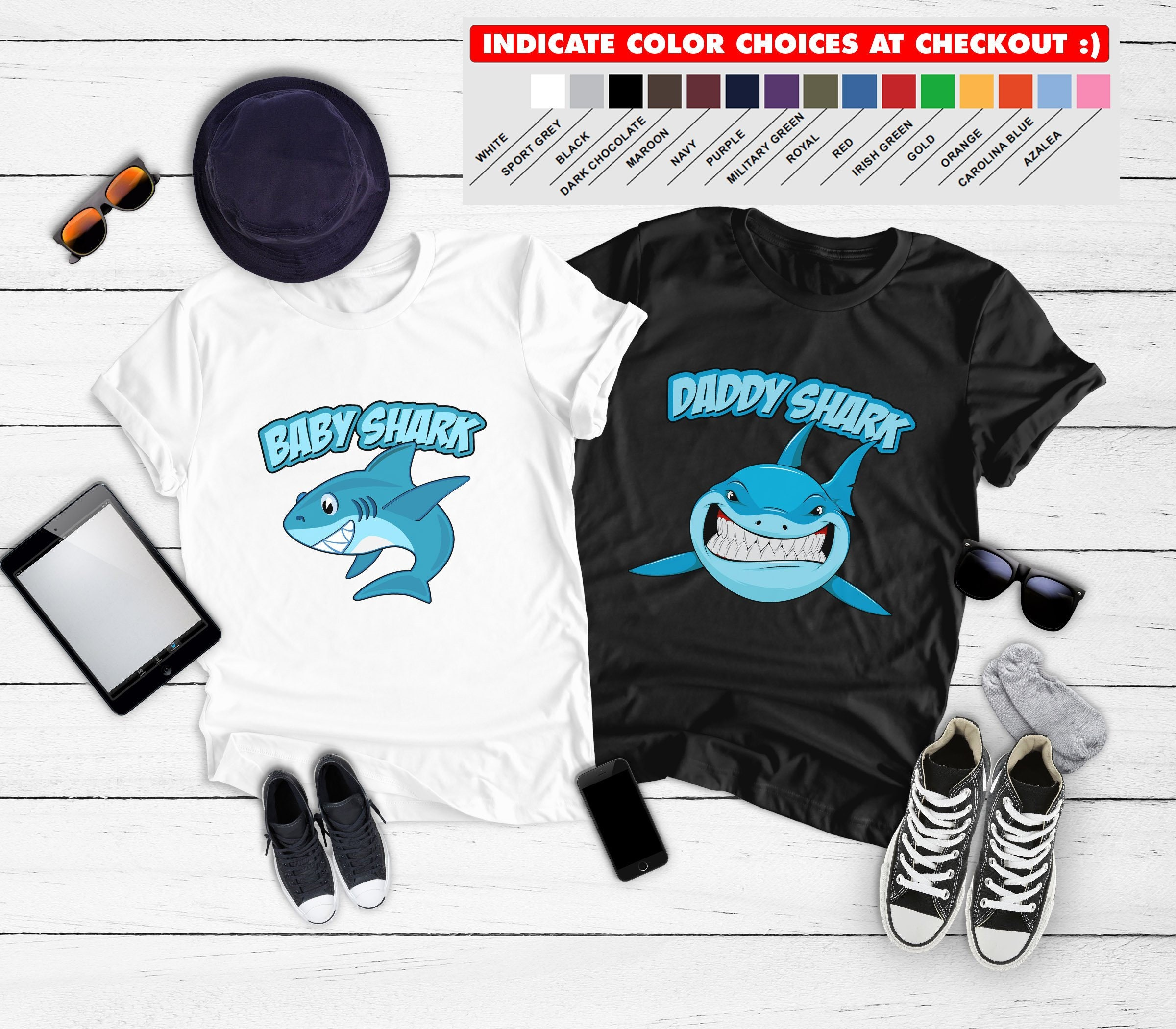 d922891f Father Son Matching Shirts Baby Shark T Shirts Daddy Shark Baby TShirts Dad  And Son Gifts Family Outfits Dad And Baby Boy BBY-001-003