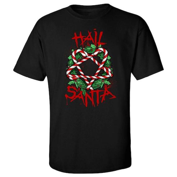 Satan Hail Santa Grandine Maglietta Etsy Natale Goth Satanica gqxYA