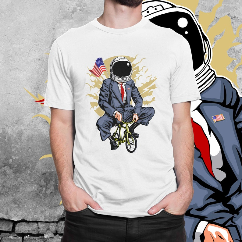 5cb5e600b United States Space Force T-shirt Trump on a Bicycle with a | Etsy