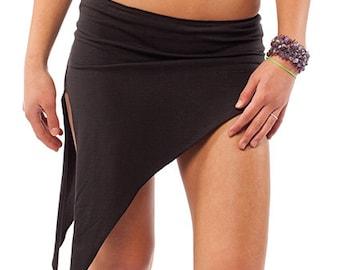 Asymmetric Organic Pixie Mini Skirt