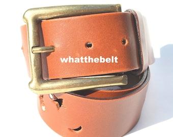 Vintage Belt Brown Leather Die Cut Moon Stars Studded Made in Italy Belt Medium