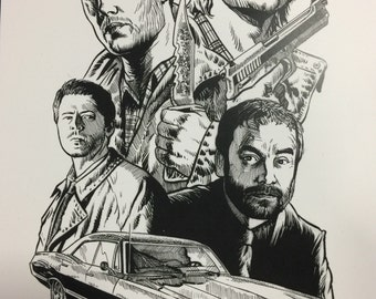 Supernatural black and white