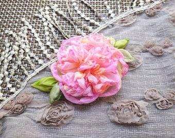 ivory Polymer clay bouquet hydrangea pink Unique Fabric Flower Bridal Bouquet Wedding Brooch bouquet blue peony
