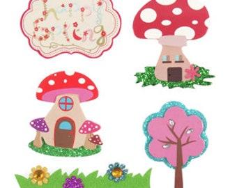 Happy Spring - Toadstool Embellishments