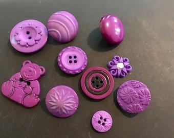 Assortment of Dark Purple Buttons