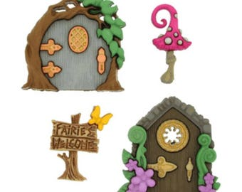 Dress It Up - Believe in Fairies buttons
