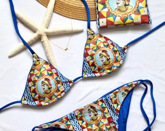 Ortigia, Sicilian bikini, Italian handmade swimwear