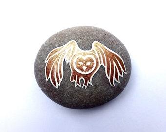 Copper Owl Stone - READY TO SHIP