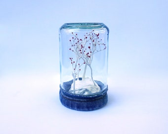 Tiny Flowering Forest Jar - READY TO SHIP