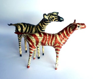 Black and Copper Zebras - Set of 2 - MADE TO ORDER
