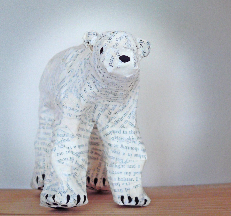 Modelo de arte Paper de oso polar decoraciones de papel Oso | Etsy
