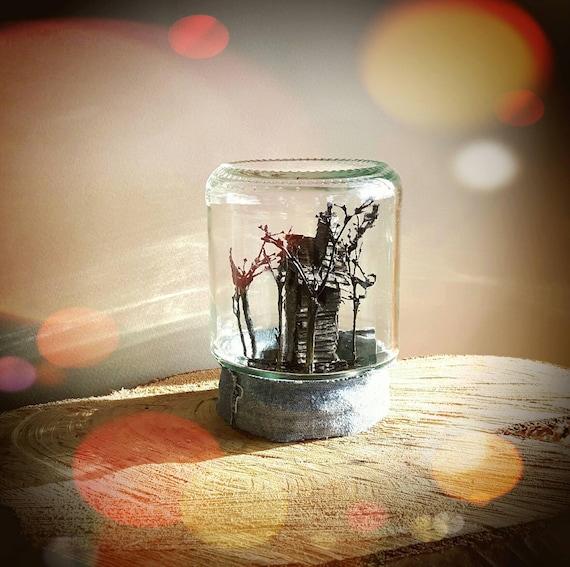 Winzige Schwarzwald Haus Glas Deko Miniatur Karton Haus Modell Etsy