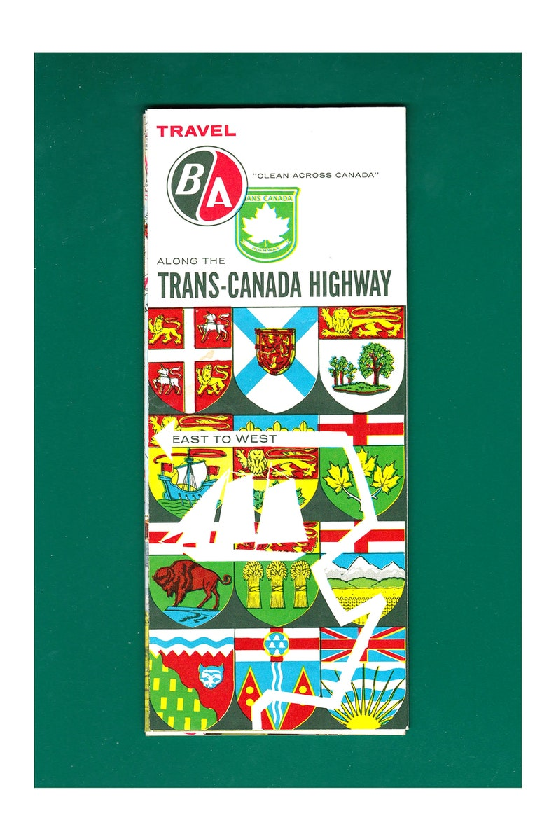 B/A Trans-Canada Highway Vintage Travel Map | Etsy on