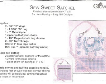 Sachel Pattern Easy to Make 7X8 inches