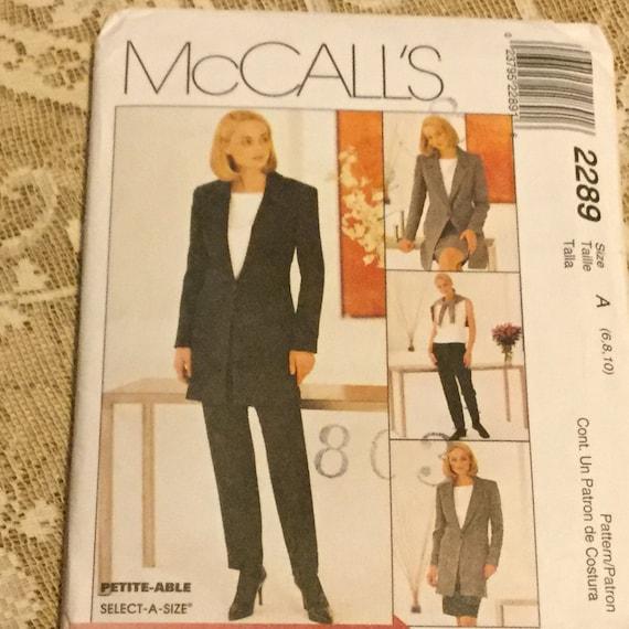 8417 UNCUT McCalls SEWING Pattern Misses Lined Jacket Dress Pants Skirt OOP SEW