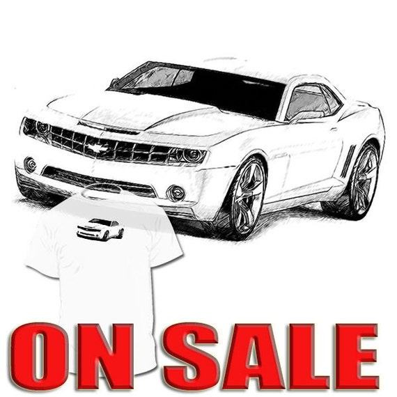 Chevrolet Camaro Drawing Tshirt Your Mustang Corvette Charger Etsy