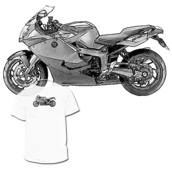 Noir Bmw K 1300 Dessin T Shirt Votre Vélo Dessin Etsy