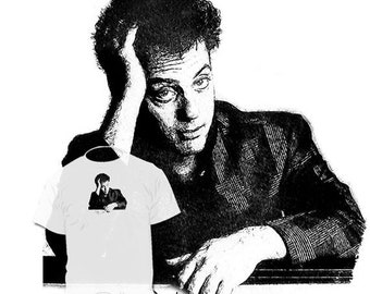 40% OFF SALE Billy Joel Drawing Art T shirt 80 s Rock and Roll Pat Benatar BlondieForeigner Loverboy  Drawings R Available