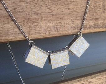Miniature Book Trio Necklace