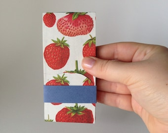 Mini Strawberry Print Jotter