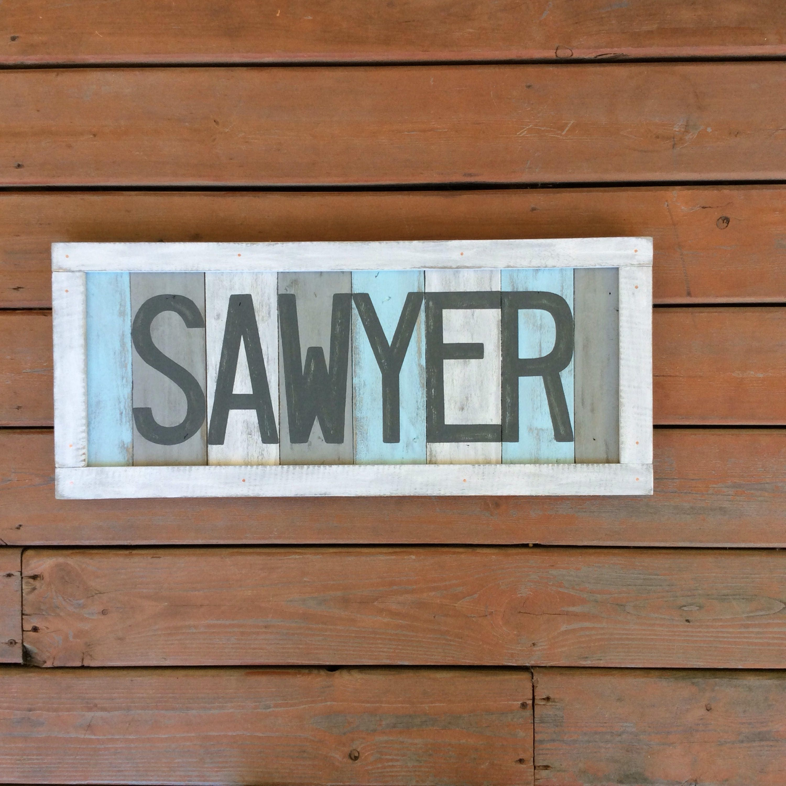 Baby Boy Name Sign Custom Rustic Nursery Sign Rustic Etsy