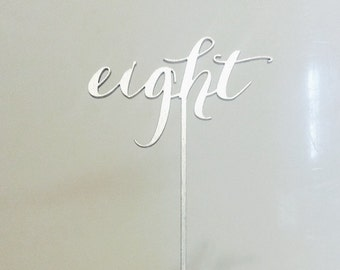Silver Table Numbers // Table Numbers // Script Table Numbers // Wedding Table Numbers // Event Table Numbers