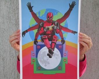 Deadpool Mandala A3 & A4 prints