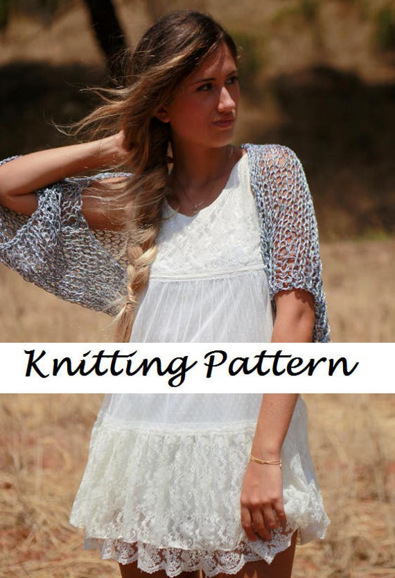 Basic Shrug Pattern Knitting Shrug Pattern Easy Knit Shrug