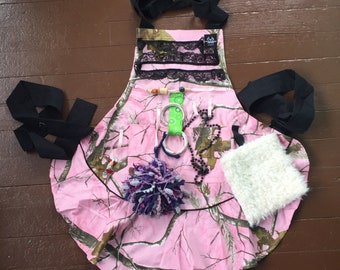 Fidget Apron Activity Pink Camouflage For Mom Or Grandma