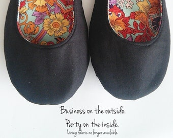 8604af057 Casual Black Flats - Custom Black Ballet Flats with Leather or Rubber Sole