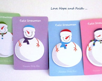 "Stickers note ""snowman"" (ca 10x6.5cm)"