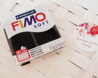 1 panetto FIMO SOFT color NERO n 9 (57 gr)