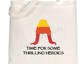 Time for Some Thrilling Heroics or Let's Be Bad Guys Jayne Hat with Cobb Quotes from Firefly Serenity Inspired Tote Bag