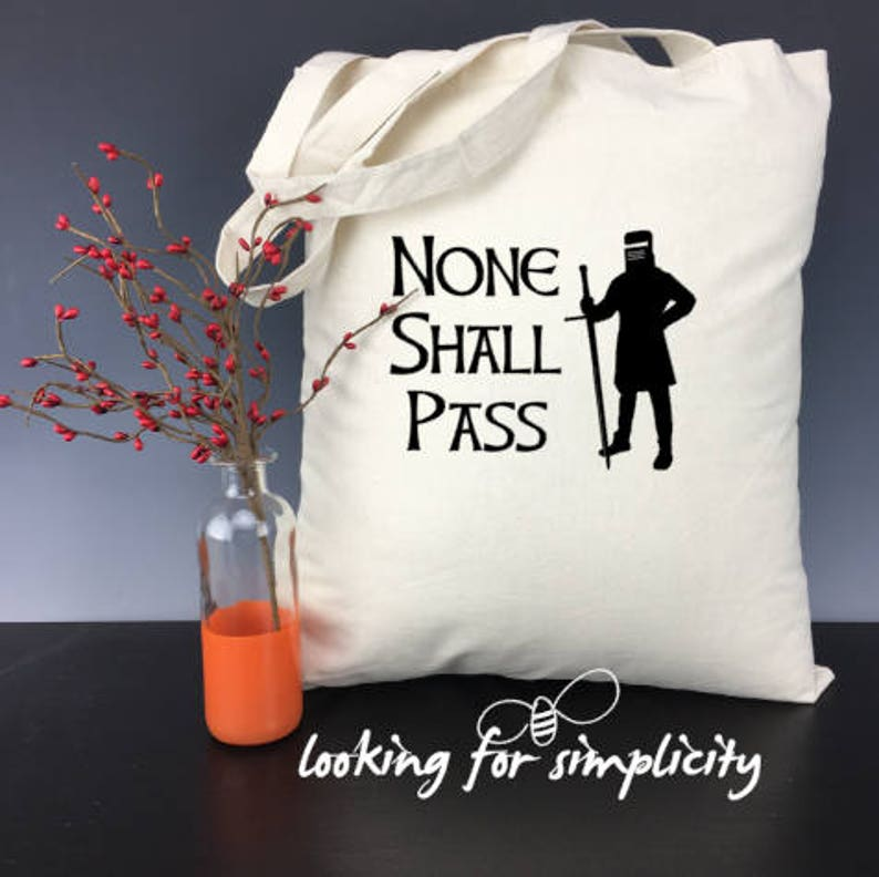 Cult Classic Humor 8 Quotes to Choose From British Movies Holy Grail Monty Python Quote Inspired Natural Cotton Canvas Tote Bags