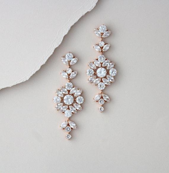 Hochzeit rosegold ohrringe Ohrringe für