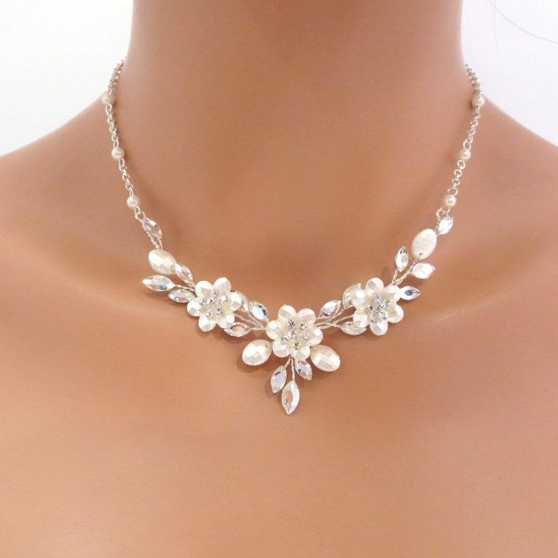 5422aa92b Swarovski crystal bridal necklace and earrings SET Wedding | Etsy