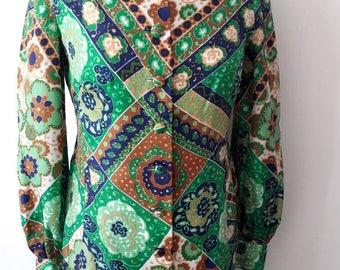 Superbe jupe fleurie Vintage des années 70 et veste de costume taille 10