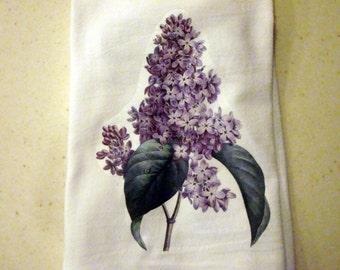 Flour Sack Kitchen Towel Lilac