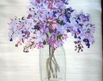 Flour Sack Towel Kitchen Lilac
