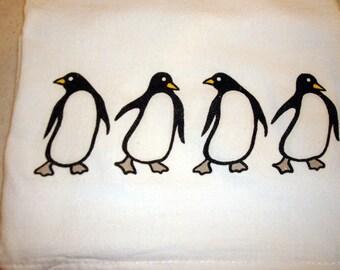 Flour Sack Kitchen Towel (Penguins)