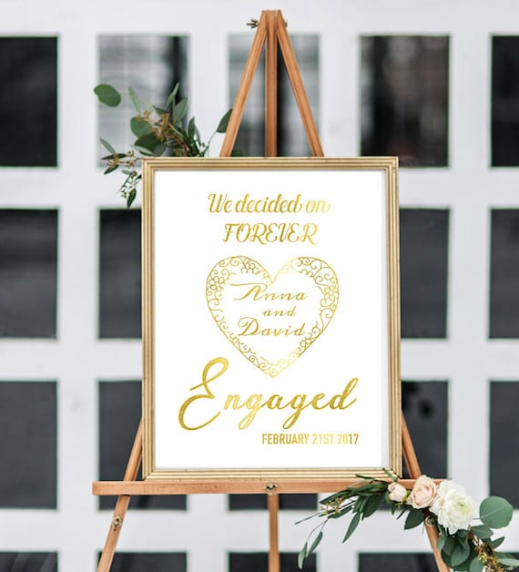 we decided on together engagement party love quotes