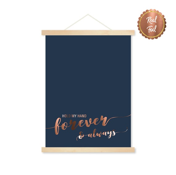 Hold My Hand Forever Always Love Quote Real Gold Etsy
