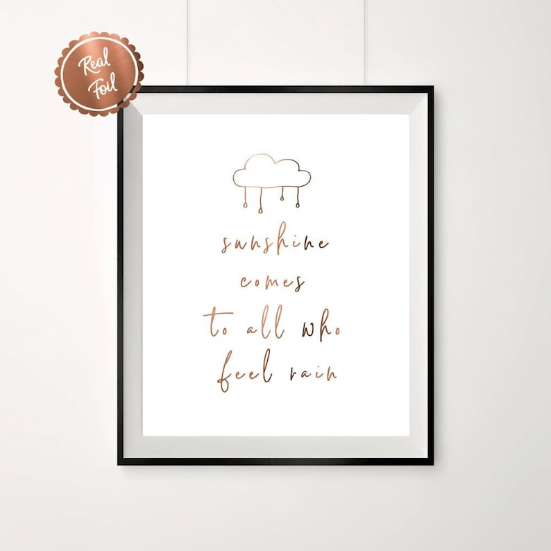 Inspiration Quote Copper Foil Copper Quotes Sunshine Etsy